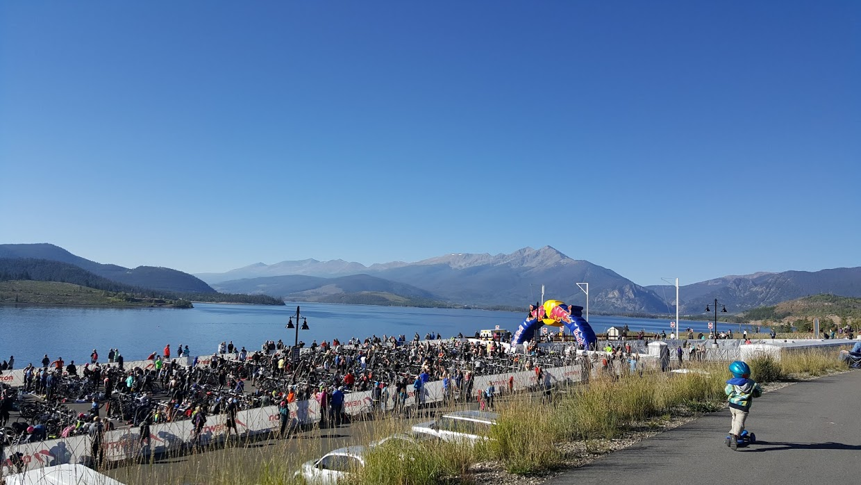 Transition area for the 106 West Triathlon
